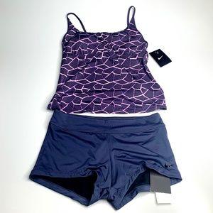 Nike Swim Suit / Workout Two Piece BlueGray Size M
